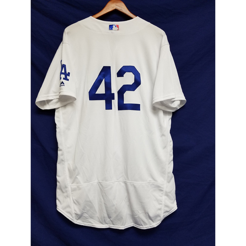 "Photo of Alex Wood Game-Used ""42"" Jersey"