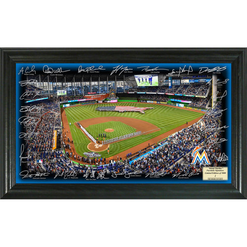 Photo of Serial #1! Miami Marlins 2017 Signature Field