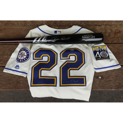 Photo of Mariners Care Charity Night: Robinson Cano Autographed Jersey and Bat
