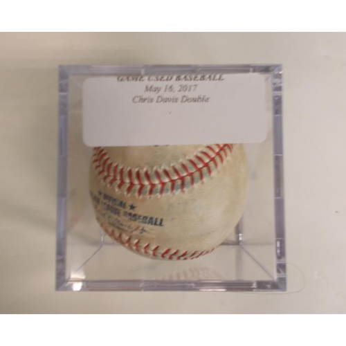 Photo of Game-Used Baseball: Chris Davis Double