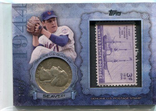Photo of 2015 Topps Birth Year Coin and Stamps Quarter #CS45 Tom Seaver 29/50