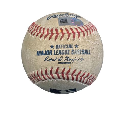 Photo of Game-Used Baseball from Pirates vs. Cubs on 4/25/17 - Cole to Contreras, Foul