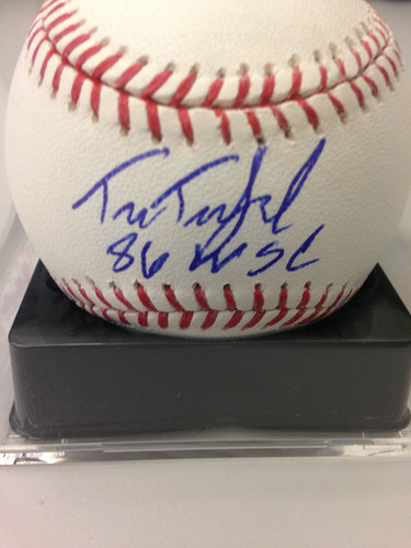 "Photo of Baseball Assistance Team: Tim Teufel ""86 WSC"" Autographed Baseball"