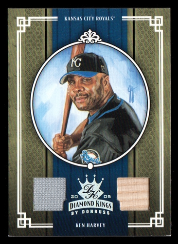 Photo of 2005 Diamond Kings Materials Silver #351 Ken Harvey Bat-Jsy/100