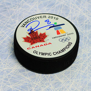 Drew Doughty Team Canada Autographed 2010 Olympic Champions Hockey Puck *Los Angeles Kings*