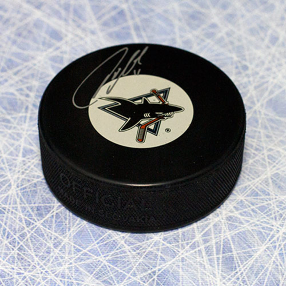 Owen Nolan San Jose Sharks Autographed Hockey Puck