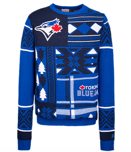 Men's Blue Jays Logo Holiday Sweater