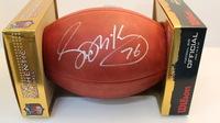 NFL - TEXANS STEVE MCKINNEY SIGNED AUTHENTIC FOOTBALL