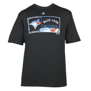 Toronto Blue Jays Dominator T-Shirt Black by Majestic