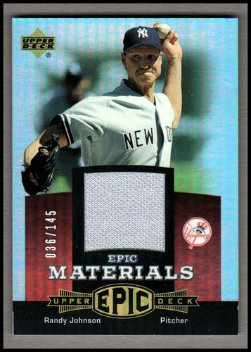 Photo of 2006 Upper Deck Epic Materials Red #RJ2 Randy Johnson Jsy/145