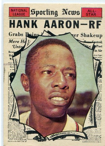 Photo of 1961 Topps #577 Hank Aaron AS -- Hall of Famer