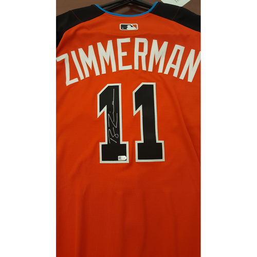 Photo of Ryan Zimmerman 2017 Major League Baseball Workout Day/Home Run Derby Autographed Jersey
