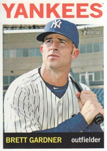 Photo of 2013 Topps Heritage #151 Brett Gardner -- Yankees post-season