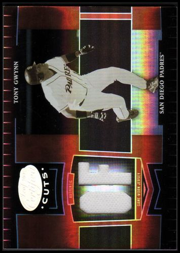 Photo of 2004 Leaf Certified Cuts Marble Material Red Position #244 Tony Gwynn LGD Jsy/100