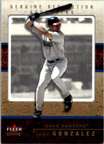 Photo of 2003 Fleer Genuine Reflection Ascending #99 Juan Gonzalez/99