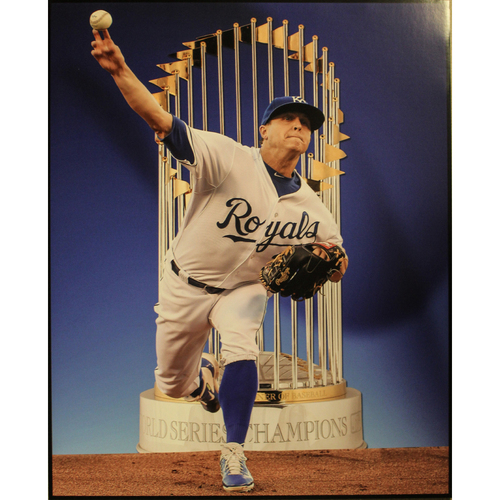 """Photo of Kris Medlen Clubhouse Poster (22"""" X 28"""")"""