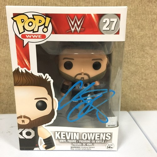 Photo of Kevin Owens SIGNED POP! Vinyl Figure