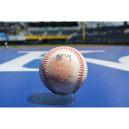 Photo of Game-Used Baseball: Salvador Perez Single and Cheslor Cuthbert RBI Double (6/7/17 - HOU at KC)