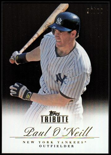 Photo of 2012 Topps Tribute Black #58 Paul O'Neill