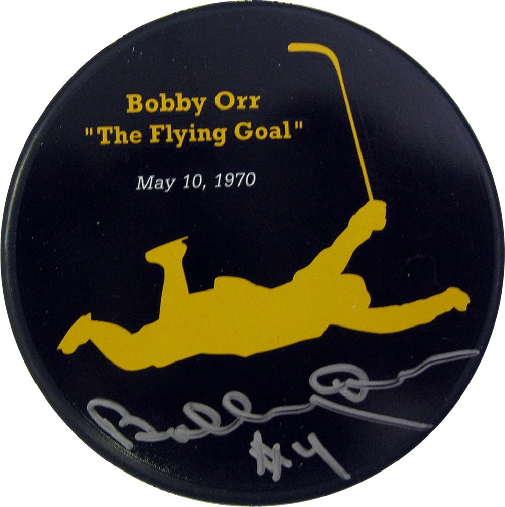 Bobby Orr - Signed The Flying Goal Puck - May 10, 1970
