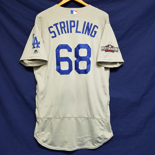 Photo of Ross Stripling 2016 Game-Used Road Playoff Jersey vs Chicago Cubs - NLCS Game 6