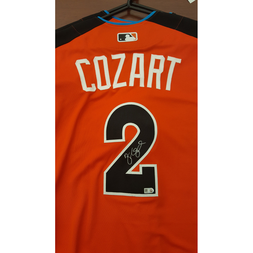 Photo of Zack Cozart 2017 Major League Baseball Workout Day/Home Run Derby Autographed Jersey