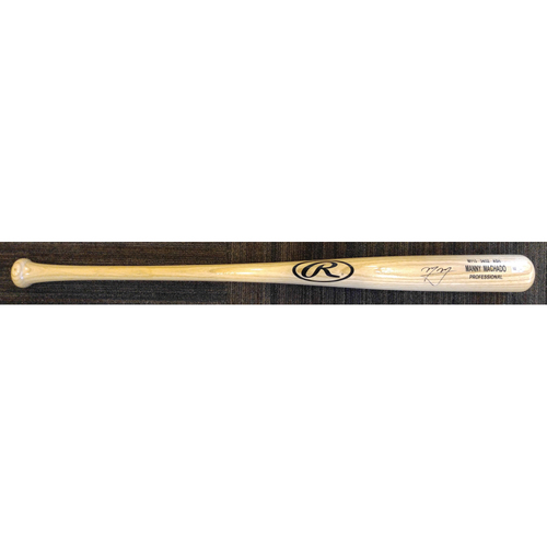 Photo of Manny Machado - Autographed Game-Model Bat