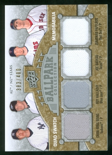 Photo of 2009 Upper Deck Ballpark Collection #215 Chien-Ming Wang/Jonathan Papelbon/Roy Halladay/Joe Nathan/4
