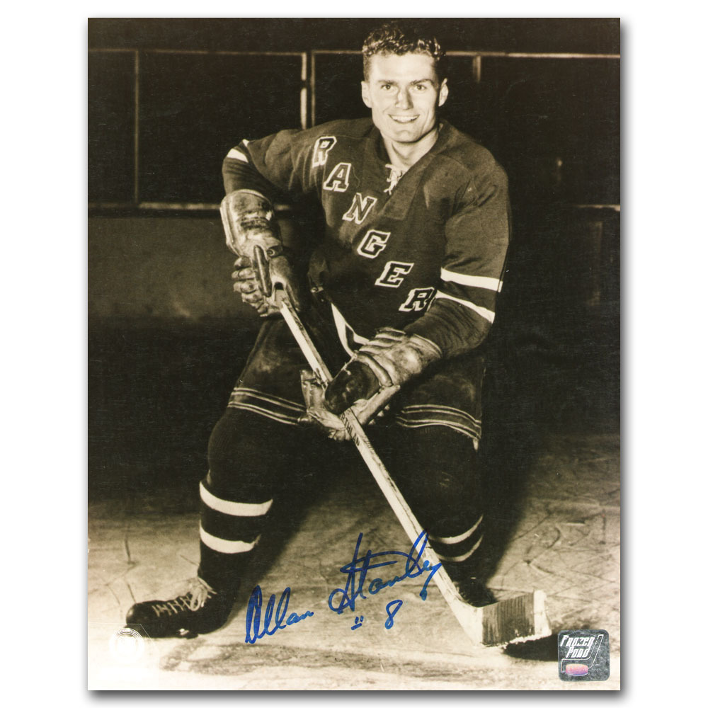 Allan Stanley Autographed New York Rangers 8X10 Photo