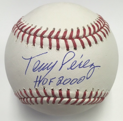 "Photo of Tony Perez Autographed ""HOF 2000"" Baseball"