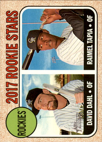 Photo of 2017 Topps Heritage #258 Raimel Tapia RC/David Dahl RC