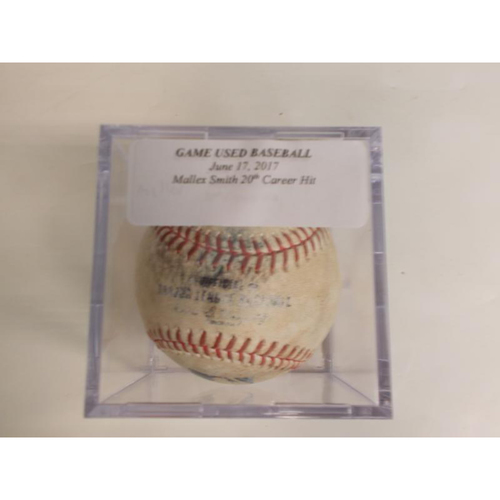 Photo of Game-Used Baseball: Mallex Smith's 20th Career Hit