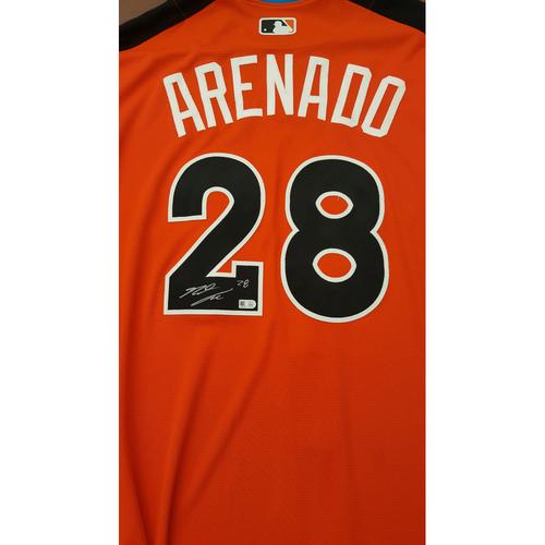 Photo of Nolan Arenado 2017 Major League Baseball Workout Day/Home Run Derby Autographed Jersey