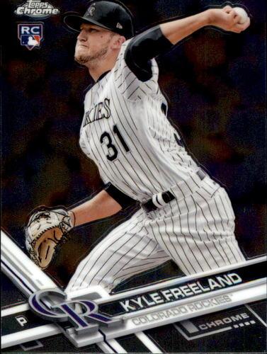 Photo of 2017 Topps Chrome #59 Kyle Freeland Rookie Card -- Rockies post-season