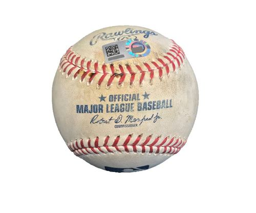Photo of Game-Used Baseball from Pirates vs. Cubs on 6/16/17 - Williams to Almora Jr, Fly Out