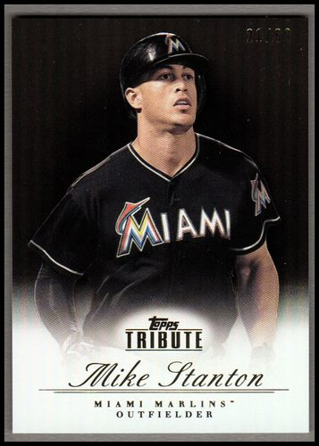 Photo of 2012 Topps Tribute Black #79 Mike Stanton