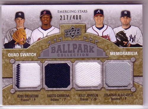 Photo of 2009 Upper Deck Ballpark Collection #224 Fausto Carmona/Jonathan Albaladejo/Kelly Johnson/Ross Ohlen