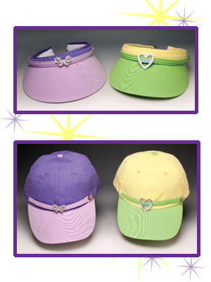 Bling on the profits!<br> Caps, visors and headbands<br> with charm image 2