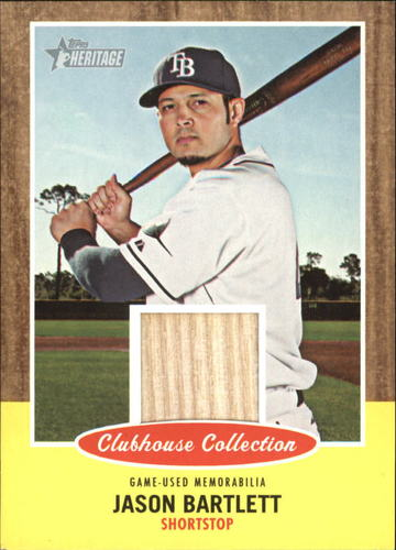 Photo of 2011 Topps Heritage Clubhouse Collection Relics #JB Jason Bartlett