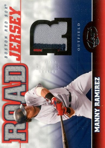 Photo of 2005 Leaf Home/Road Jersey Prime #8R Manny Ramirez R