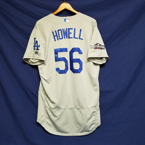 Photo of JP Howell 2016 Game-Used Road Playoff Jersey vs Chicago Cubs - NLCS Game 6