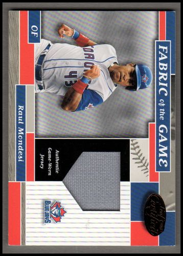 Photo of 2002 Leaf Certified Fabric of the Game #86BA Raul Mondesi/100