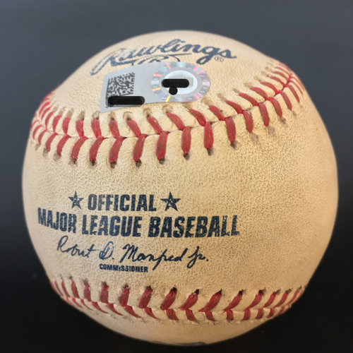 Photo of Game-Used Baseball: Mike Fiers Pitch In The Dirt to Miguel Cabrera