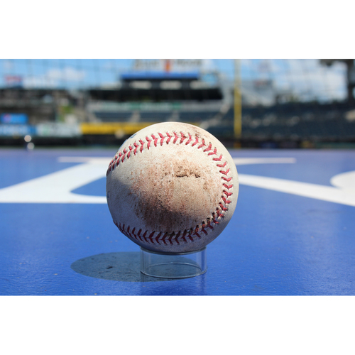 Photo of Game-Used Baseball: Lorenzo Cain Double (8/6/17 - SEA at KC - Game 1)