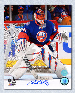 Jaroslav Halak New York Islanders Autographed In Goal Action 8x10 Photo