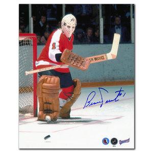 Bernie Parent Philadelphia Flyers Eye on the Puck Signed 8x10
