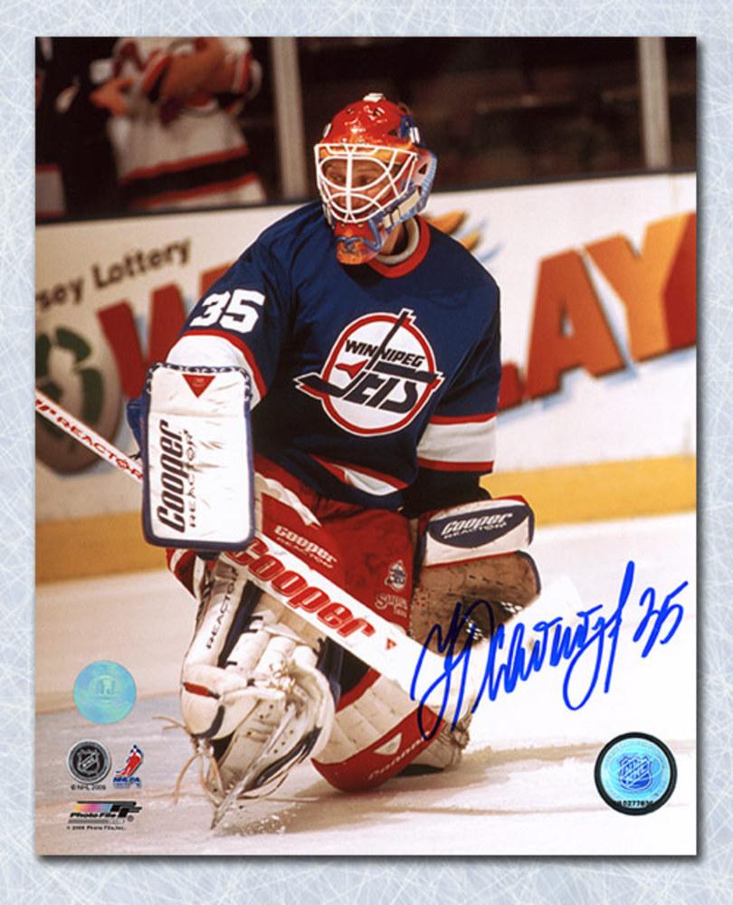Nikolai Khabibulin Winnipeg Jets Autographed Goalie Action 8x10 Photo