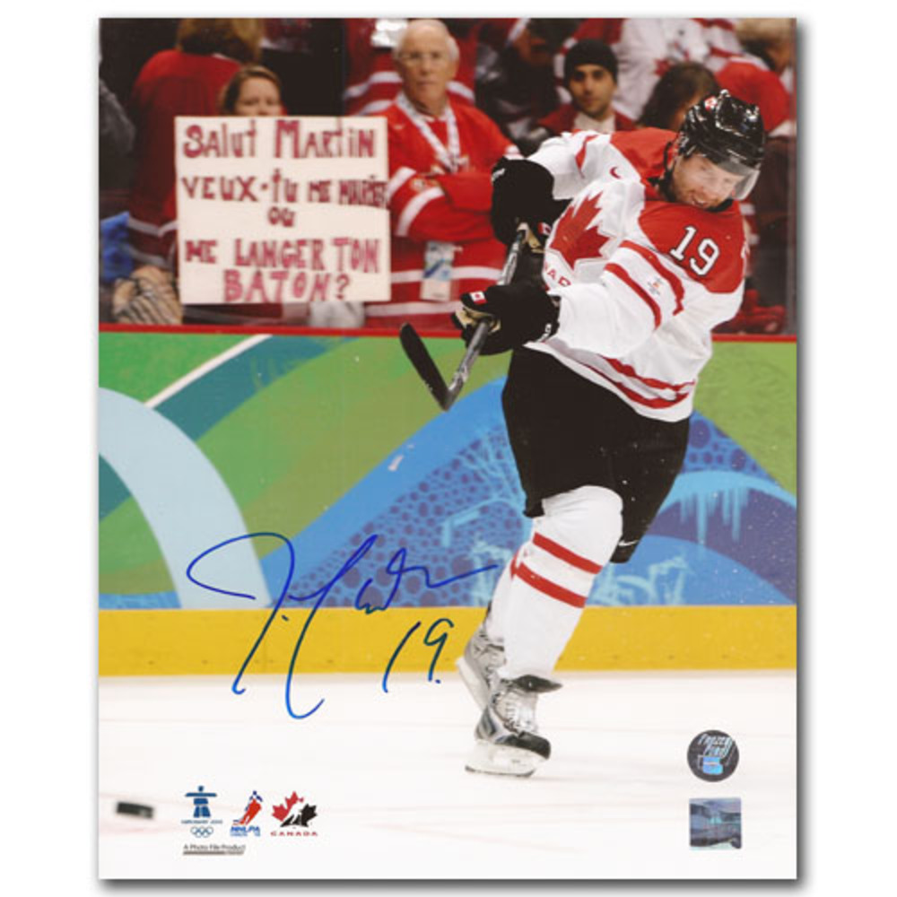 Joe Thornton (San Jose Sharks) Autographed 2010 Olympics 8X10 Photo