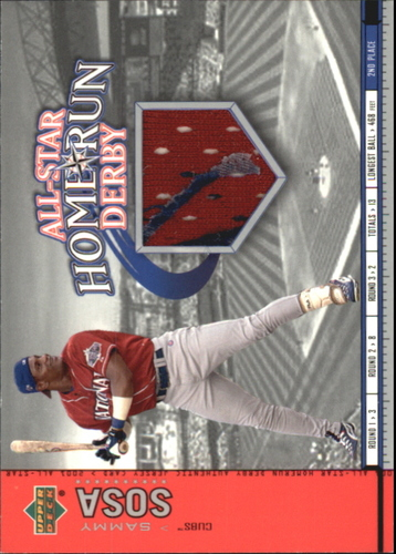 Photo of 2002 Upper Deck All-Star Home Run Derby Game Jersey #ASSS1 Sammy Sosa