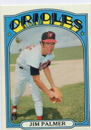 Photo of 1972 Topps #270 Jim Palmer Hall of Famer